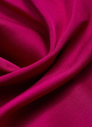 - ROLAND MOURET - EUGENE系带褶裥不对称袖后镂空缎面上衣