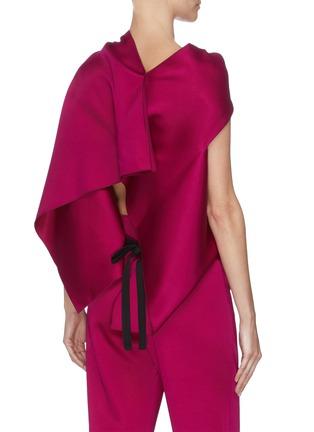 背面 - 点击放大 - ROLAND MOURET - EUGENE系带褶裥不对称袖后镂空缎面上衣