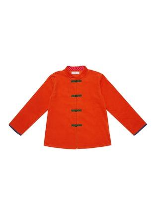 首图 - 点击放大 - TANG'ROULOU - 儿童款编织盘扣斜开襟连衣裙
