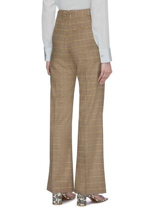 背面 - 点击放大 - NANUSHKA - CLARA腰带褶裥拼色格纹长裤