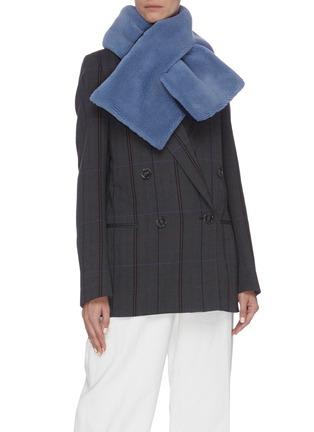 模特儿示范图 - 点击放大 - HEURUEH - 毛绒质感围巾
