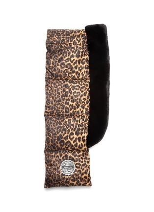 细节 - 点击放大 - HEURUEH - 豹纹绗缝夹棉填充围巾