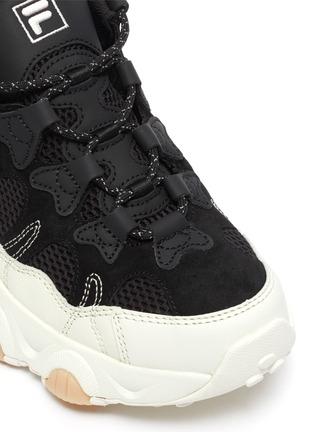 细节 - 点击放大 - FILA - logo真皮拼接网眼布运动鞋