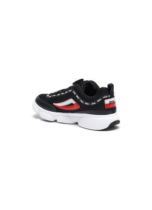 细节 - 点击放大 - FILA - Disruptor logo儿童款真皮拼接网眼布运动鞋