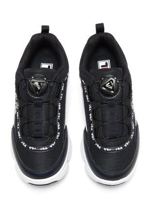 模特儿示范图 - 点击放大 - FILA - Disruptor logo儿童款真皮拼接网眼布运动鞋