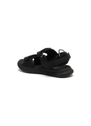- FILA - 儿童款logo真皮拼接网眼布搭带凉鞋