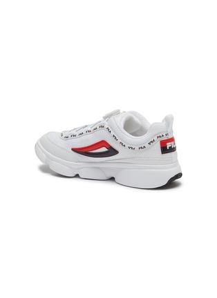 细节 - 点击放大 - FILA - Disruptor儿童款logo真皮拼接网眼布运动鞋
