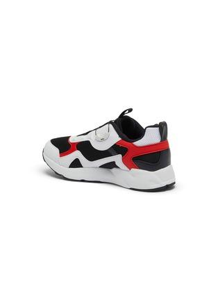 细节 - 点击放大 - FILA - 幼儿款真皮拼接网眼布厚底运动鞋
