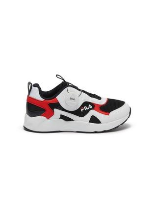首图 - 点击放大 - FILA - 幼儿款真皮拼接网眼布厚底运动鞋