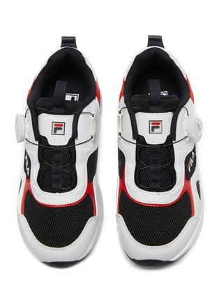 模特儿示范图 - 点击放大 - FILA - 幼儿款真皮拼接网眼布厚底运动鞋