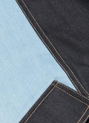 - FENG CHEN WANG - 抽绳裤腰翻盖口袋拼色纯棉牛仔裤