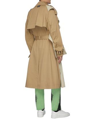 背面 - 点击放大 - Feng Chen Wang - 拼接设计腰带棉质风衣