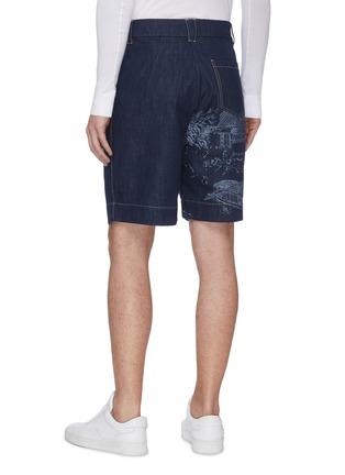 背面 - 点击放大 - FENG CHEN WANG - 中国风图案纯棉牛仔短裤