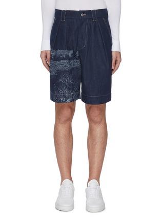 首图 - 点击放大 - FENG CHEN WANG - 中国风图案纯棉牛仔短裤