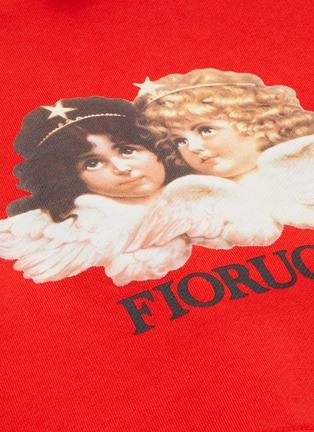 - FIORUCCI - 天使图案品牌名称oversize短款纯棉卫衣