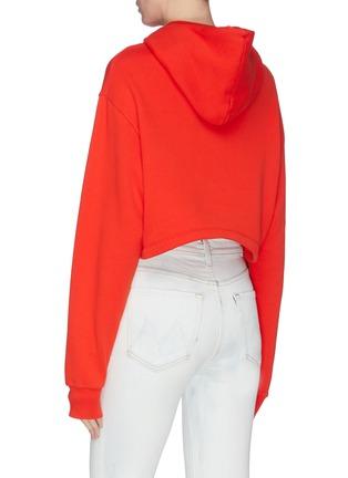 背面 - 点击放大 - Fiorucci - 天使图案品牌名称oversize短款纯棉卫衣