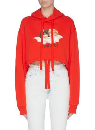 首图 - 点击放大 - Fiorucci - 天使图案品牌名称oversize短款纯棉卫衣