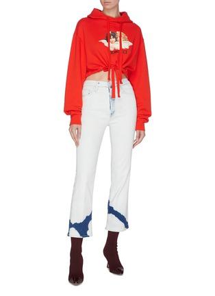 模特儿示范图 - 点击放大 - FIORUCCI - 天使图案品牌名称oversize短款纯棉卫衣