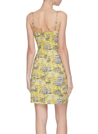 背面 - 点击放大 - STAUD - BASSET异域风情印花棉质吊带连衣裙