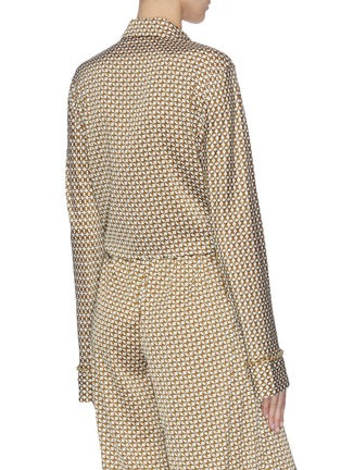 背面 - 点击放大 - Jonathan Simkhai - 系带链条印花罩衫
