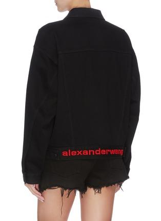 背面 - 点击放大 - ALEXANDER WANG - x 连卡佛中性款logo刺绣牛仔夹克