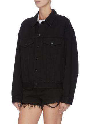 正面 -点击放大 - ALEXANDER WANG - x 连卡佛中性款logo刺绣牛仔夹克