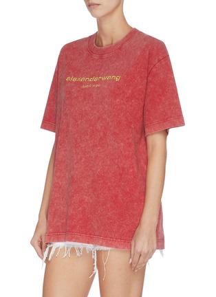 正面 -点击放大 - ALEXANDER WANG - x 连卡佛中性款logo酸洗效果纯棉T恤