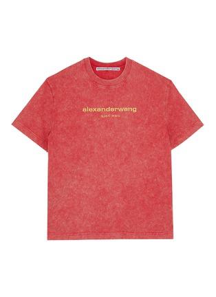 首图 - 点击放大 - ALEXANDER WANG - x 连卡佛中性款logo酸洗效果纯棉T恤