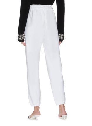 背面 - 点击放大 - ALEXANDER WANG - x 连卡佛Bling中性款仿水晶logo纯棉休闲裤