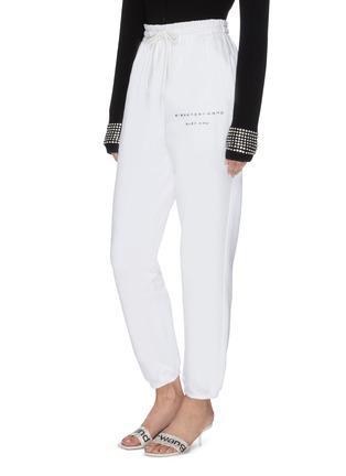 正面 -点击放大 - ALEXANDER WANG - x 连卡佛Bling中性款仿水晶logo纯棉休闲裤