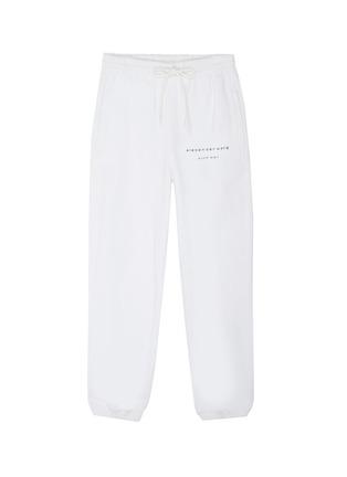 首图 - 点击放大 - alexander wang - x 连卡佛Bling中性款仿水晶logo纯棉休闲裤
