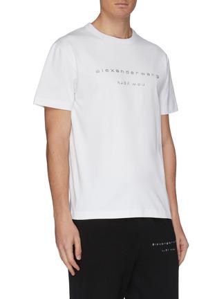 细节 - 点击放大 - alexander wang - x 连卡佛Bling中性款仿水晶logo纯棉T恤