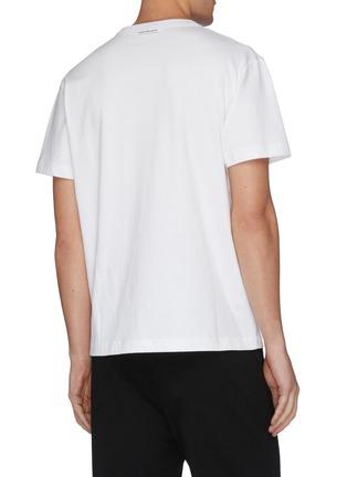 - alexander wang - x 连卡佛Bling中性款仿水晶logo纯棉T恤