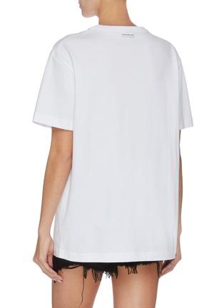 背面 - 点击放大 - ALEXANDER WANG - x 连卡佛Bling中性款仿水晶logo纯棉T恤