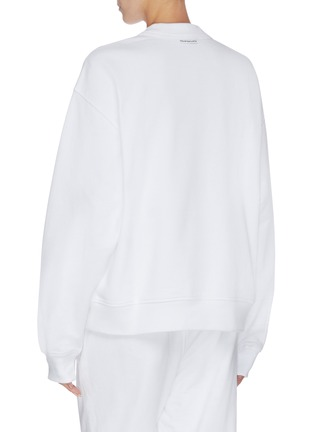 背面 - 点击放大 - ALEXANDER WANG - x 连卡佛Bling中性款仿水晶logo纯棉卫衣