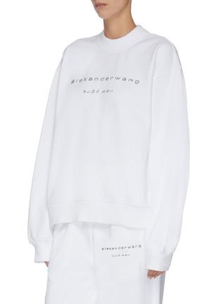 正面 -点击放大 - ALEXANDER WANG - x 连卡佛Bling中性款仿水晶logo纯棉卫衣