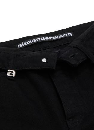 - alexander wang - x 连卡佛Cult a字母仿水晶翻折裤腰牛仔裤