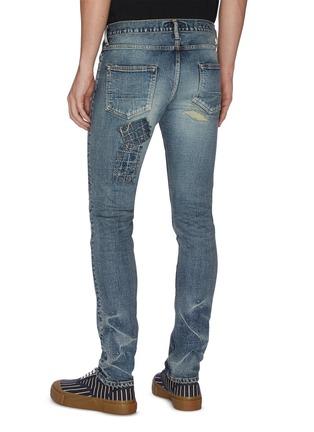 背面 - 点击放大 - FDMTL - 日式刺绣拼贴磨破修身混棉牛仔裤