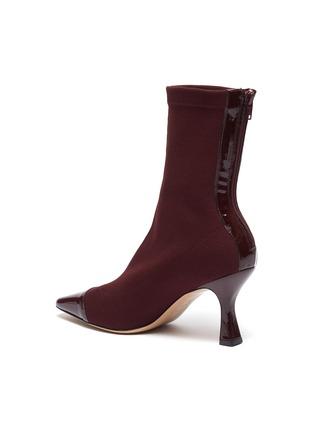 - FABIO RUSCONI - Cairo漆皮拼接高跟针织袜靴