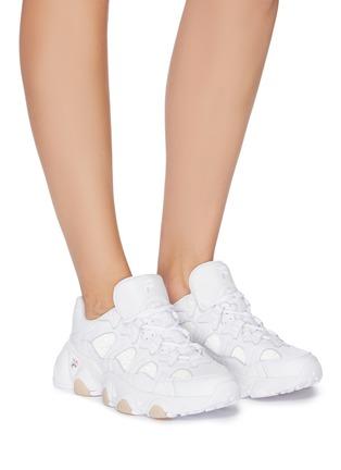 模特儿示范图 - 点击放大 - FILA - JAGGER STARRY真皮运动鞋
