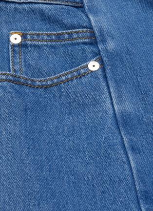 拼接阔腿牛仔裤展示图