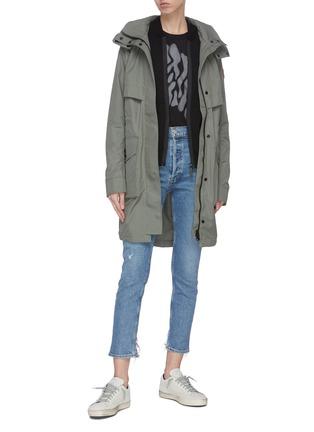 模特儿示范图 - 点击放大 - CANADA GOOSE - LENNOX混美丽诺羊毛针织衫