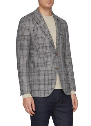 正面 -点击放大 - Lardini - 平驳领格纹丝混羊毛西服外套