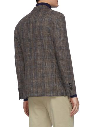 背面 - 点击放大 - Lardini - 平驳领格纹混羊毛及棉西服外套