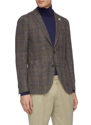 正面 -点击放大 - Lardini - 平驳领格纹混羊毛及棉西服外套