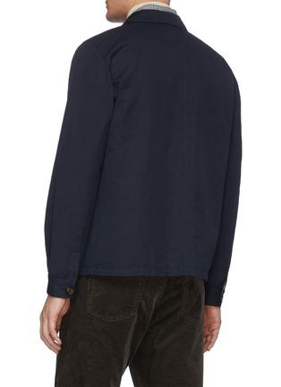背面 - 点击放大 - LARDINI - 拼贴口袋棉混亚麻衬衫式夹克