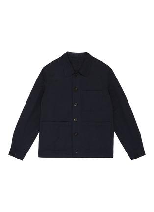 首图 - 点击放大 - LARDINI - 拼贴口袋棉混亚麻衬衫式夹克