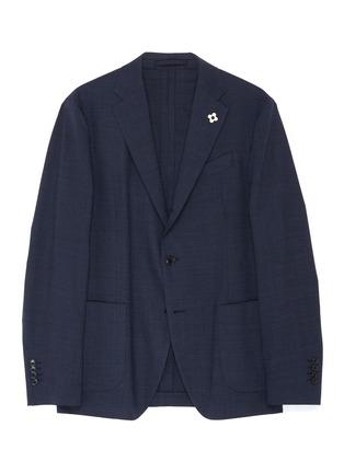 首图 - 点击放大 - Lardini - 平驳领防泼水混羊毛西服外套
