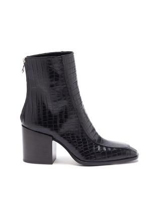首图 - 点击放大 - AEYDE - Lidia鳄鱼纹真皮粗跟短靴