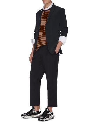 模特儿示范图 - 点击放大 - WOOYOUNGMI - 品牌名称刺绣纯棉衬衫